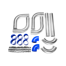 "3"" Universal Alum Turbo Intercooler Piping Kit WITH PIPE 120 Degree"