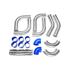 "3"" INCH ALUMINUM 8PCS TURBO INTERCOOLER PIPING 120 DEGREE PIPE KIT for MAZDA"