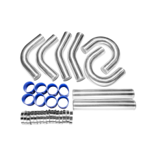 "3"" ALUMINUM Intercooler Piping Kit for Mustang Accord pipe"
