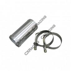"2.5"" Aluminum joiner Intecooler Pipe 5"" Long + T-Clamps"