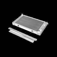 """Aluminum Radiator + Bracket Kit for 68-72 Chevelle 2"""" Core 3 Row"""