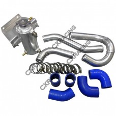 """1.5"""" Aluminum Radiator Hard Pipe Kit For 2003-2012 Mazda RX-8 With RX-7 FD REW 13B Engine Swap"""