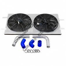 "Radiator Shroud + Piping + 14"" Fans Kit For 1997-2003 Ford F150 F-150"