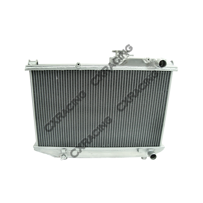 "COROLLA AE86 SR5 GT-S MT//MANUAL TWO//DUAL ROW//CORE ALUMINUM RADIATOR+10/"" RED FAN"