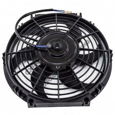 "High Power Slim 10"" Radiator FAN with Zip Ties"
