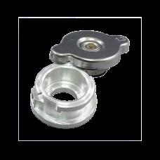 Weld on Billet Aluminum High Pressure 1.3 Bar Radiator Filler Neck + Cap