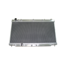"""Aluminum Radiator For 1G 90-94 Turbo 4G63 Eclipse Talon, Core: 26""""x13""""x2"""", 1.4"""" Inlet & Outlet"""
