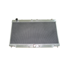 """Aluminum Radiator For 2G 95-99 Turbo 4G63 Eclipse Talon, Core: 26""""x13""""x2"""", 1.4"""" Inlet & Outlet"""
