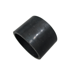 """Black Silicon Hose Coupler 2"""" Straight For Intercooler Pipe 1.5"""" Long"""
