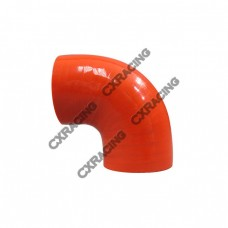 """2"""" 90 Deg Red Silicon Hose Coupler For Turbo Intercooler Pipe"""