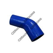 "2.75"" to 2.50 Inch Blue Silicon Hose Reducer 45 Degree Elbow Coupler"