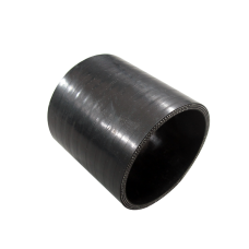 "4"" 76mm Long Straight Black Silicon Hose Coupler For Intercooler Pipe"