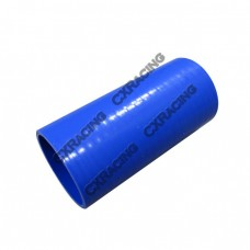 """2.75"""" Straight Blue Silicon Hose Coupler For Intercooler Pipe 6"""" Long"""