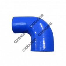 "2.75"" to 2.25 Inch Blue Silicon Hose Reducer 90 Degree Elbow Coupler"