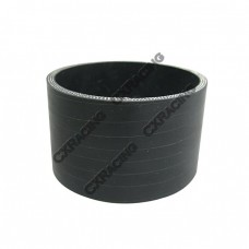 """Black Silicon Hose 3"""" Straight 2"""" Long For Turbo Intercooler Pipe"""