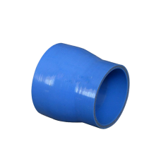 "Universal 3"" to 2.625"" Straight Blue Silicon Hose Coupler 76mm Long"