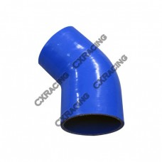 "2.75"" to 2.60 Inch Blue Silicon Hose Reducer 45 Degree Elbow Coupler"