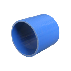 "3.5"" Universal Straight Blue Silicon Coupler Hose 3"" Long For Intercooler Pipe"
