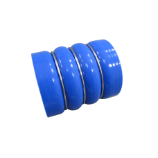 "3.5"" Blue Straight Silicon Hose Double Hump Coupler 3-Ring Enforced 4 inch Long"