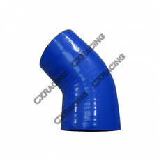 "3.5""-3"" 45 Degree Eblow Blue Silicon Hose Reducer Coupler For Intercooler Pipe"