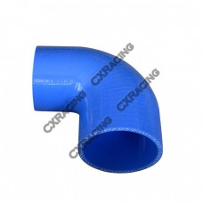 "3.5""-3"" 90 Degree Eblow Blue Silicon Hose Reducer 4 Layers Coupler"