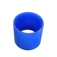 """Universal 4"""" 50mm Long Straight Blue Silicon Hose Coupler For Pipe"""