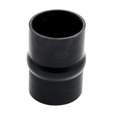"Universal 4"" Black Straight Hump Silicon Hose Coupler 6"" Long For Intercooler"