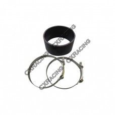 """5"""" Silicone Hose + Clamps Black For Intercooler Turbo Pipe Air Filter"""