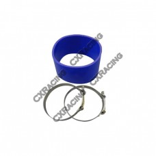 "5"" Silicone Hose + Clamps Blue For Intercooler Turbo Pipe Air Filter"