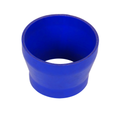 """Universal 5"""" to 4"""" Blue Silicon Hose Reducer Straight 85mm Long"""