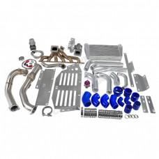Turbo Intercooler Downpipe Kit Skid Plate For Land Cruiser 80 J80 1FZ-FE 4.5L