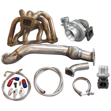 Turbo Manifold Downpipe Oil Line Kit For SC300 1JZ-GTE VVTI 1JZGTE Swap