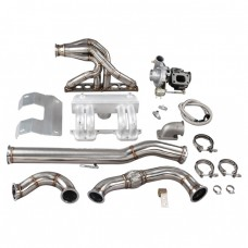 Turbo Intake Manifold Downpipe Kit For Land Rover Defender 90 110 2.5L Diesel