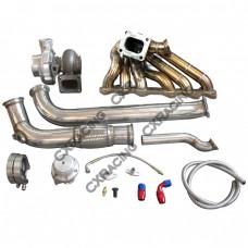 GT35 Turbo Manifold Downpipe Oil Line Kit For Cressida MX83 2JZ-GTE 2JZGTE