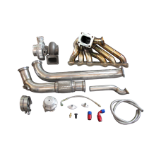 GT35 Turbo Manifold Downpipe Oil Line Kit For Cressida MX83 2JZ-GTE 2JZGTE