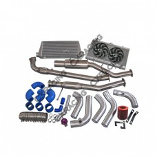Downpipe Catback Radiator Fan 2JZ-GTE 2JZ Engine Swap Kit For 240SX S13 S14