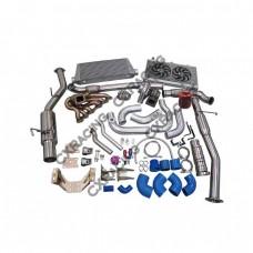 Turbo Kit Intercooler Catback Radiator Motor Trans Mount For 2JZGTE 2JZ S13 S14