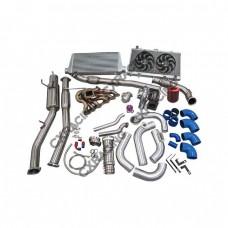 T72 Turbo Kit For 2JZGTE 2JZ 240SX S13 S14 Intercooler Radiator Catback Fan Oil