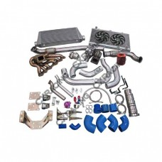 Turbo Kit For 2JZGTE 2JZ 240SX S13 S14 Intercooler Radiator Motor Trans Mount