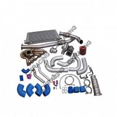 Turbo Kit For 2JZGTE 2JZ 240SX S13 S14 T72 Manifold Downpipe Intercooler Oil