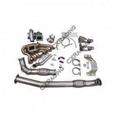 Turbo Kit For 2JZGTE 2JZ Swap 240SX S13 S14 Manifold Downpipe Motor Trans Mount