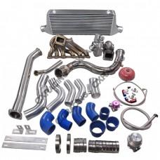 Turbo Manifold Downpipe Intercooler Kit For Subaru BRZ Scion FRS 2JZ-GTE Swap 2JZGTE