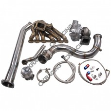 T70 Turbo Manifold Downpipe For Subaru BRZ Scion FRS 2JZ-GTE Swap 2JZGTE