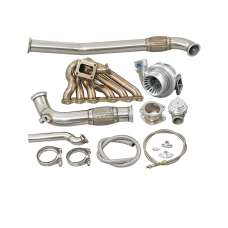 2JZGTE Single Turbo Manifold Downpipe Kit for RX7 FC Swap