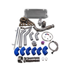 Turbo Intercooler Manifold Downpipe Kit For Toyota Tacoma Truck 2JZ-GTE 2JZGTE