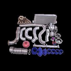 Turbo Kit Manifold Intercooler Downpipe For 86-92 Supra MK3 2JZ-GTE 2JZGTE