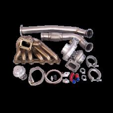 Turbo Manifold Downpipe Oil Line Kit For 86-92 Supra MK3 2JZ-GTE 2JZGTE