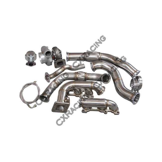 turbo kit manifold downpipe for toyota 95