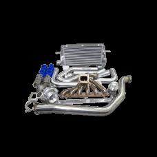 Turbo Manifold Downpipe Intercooler Piping Kit For 86-92 Supra MK3 7MGTE