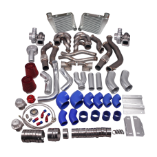 Twin Turbo Header Intercooler Kit For 64-67 Chevelle BBC Big Block 396 402 427 454